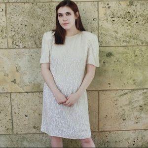 "Vintage ""Lawrence Kazar NY"" 100% Silk Sequin Dress"